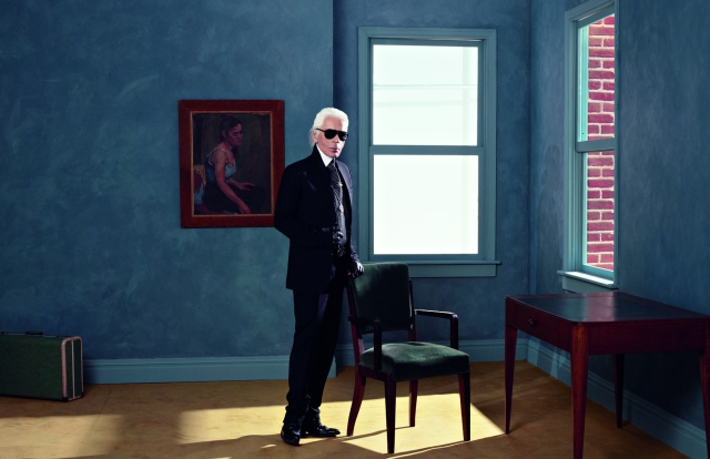 Karl Lagerfeld Selbstportrait, 2011/2012 Aus der Serie Atelier Fendi Inkjet auf Leinwand 84 × 120 cm © 2014 Karl Lagerfeld